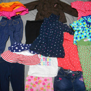 Lot of 14 girl's size 18 months clothes
